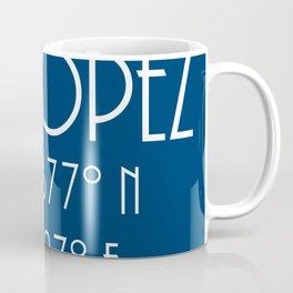 St. Tropez Latitude Longitude Coffee Mug