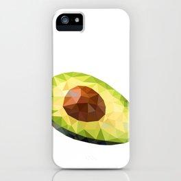 Low Polygon Avocado iPhone Case