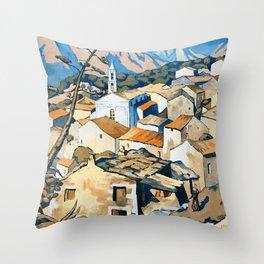 La Corse, Travel Poster French railways Throw Pillow