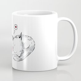 Foxes in Love Doodle Art Coffee Mug