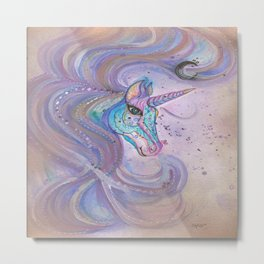 Mystic Unicorn Metal Print