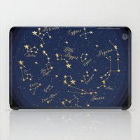 constellations iPad Cases featuring Constellations by Cina Catteau