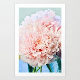 Peony Flower Photography, Pink Peony Floral Art Print Nursery Decor A Happy Life  - Peonies 1 Art Print