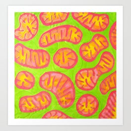 Mitochondria in action Art Print