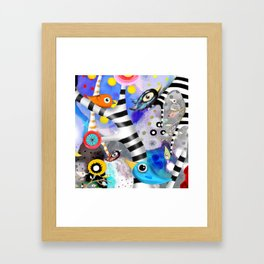 Brainwashing - Good bye Sozialismus - Floating Ideas - BIRDS STRIPED TREE Framed Art Print