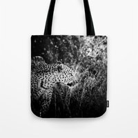 leopard Tote Bags featuring Leopard by BethWold