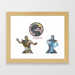 Subzero VS Scorpion Framed Art Print