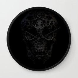 Skulls Black Wall Clock