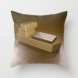 Chocolate Ship - 3D Art Throw Pillow