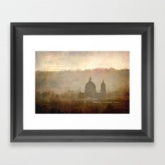 Cityscape - late afternoon Framed Art Print