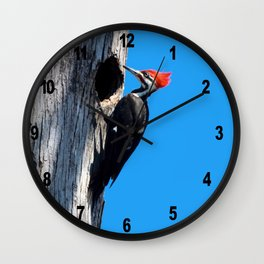 Bayou Bird (Pileated Woodpecker) Wall Clock