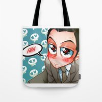 moriarty Tote Bags featuring Jim Moriarty by M-chi