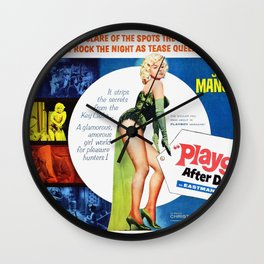 Vintage British Film Poster - Too Hot to Handle (1960) Wall Clock