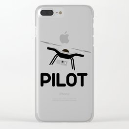 Drone Pilot UAS UAV Unmanned Aerial Vehicle  Clear iPhone Case