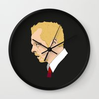 shaun of the dead Wall Clocks featuring Simon Pegg - Shaun Of The Dead by Tomcert