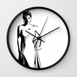 Julie London illustration by Woody Compton Wall Clock