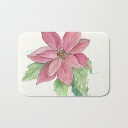 Poinsettia Bath Mat