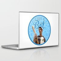 stiles stilinski Laptop & iPad Skins featuring Stiles Stilinski - Bat by JulietteGD