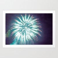 Thai Fireworks Art Print