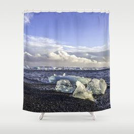 Jokulsarlon Lagoon Beach 05 Shower Curtain