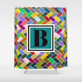B Monogram Shower Curtain