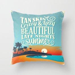 Crazy & lazy Summer Throw Pillow