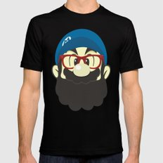 Mario bro LARGE Black Mens Fitted Tee