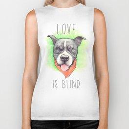 Pitbull - Love is blind - Stevie the wonder dog Biker Tank