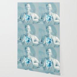 Business Man Using Digital Solutions Technology Concept Art Wallpaper