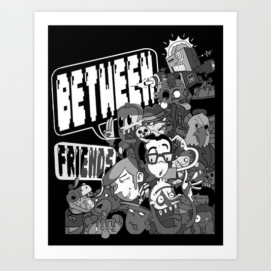 Between Friends Art Print