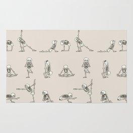Skeleton Yoga Rug