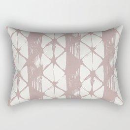 Simply Braided Chevron Clay Pink on Lunar Gray Rectangular Pillow