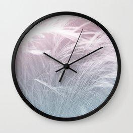LIGHT FIELDS -Pink Wall Clock