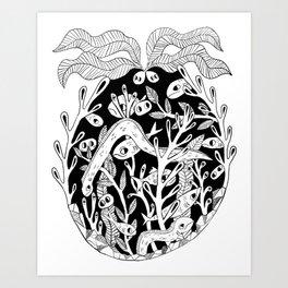 Sea Creature Feature Art Print