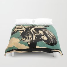 Motorcycle Race Duvet Cover