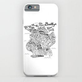Brooklyn Map iPhone Case