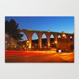 Aqueduct of the Free Waters in Lisbon Canvas Print