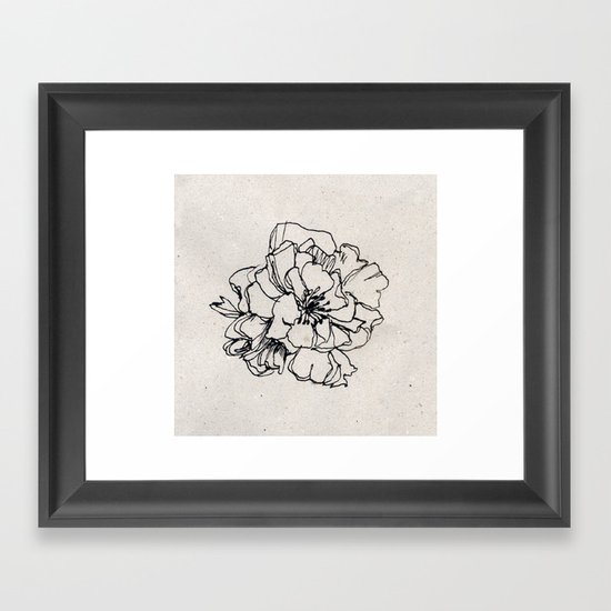 Flower Hairpin Framed Art Print