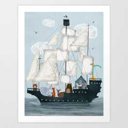 a nautical adventure Art Print