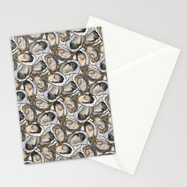 Oyster Seafood Fiesta in Cream Stationery Cards
