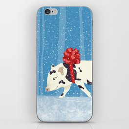 Cute Little Pig Holiday Design iPhone Skin