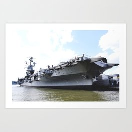 The Intrepid Sea Air and Space Museum in New York City will be the new home of the space shuttle Ent Art Print
