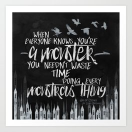 Six of Crows - Monster Art Print