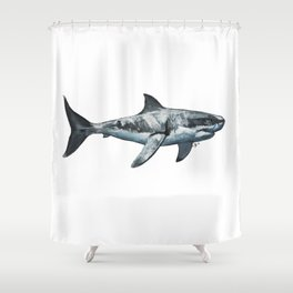 Great White (c) Shower Curtain
