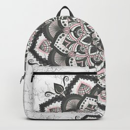 Pink gray mandala Backpack