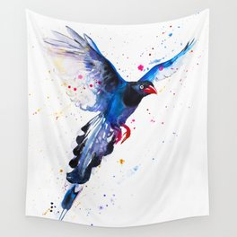 Taiwan Blue Magpie Wall Tapestry