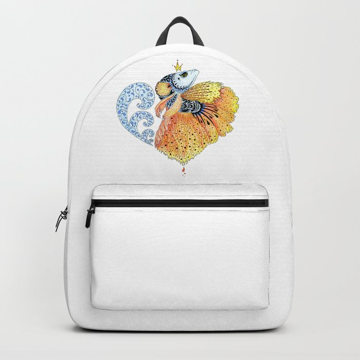 AfetMirzayeva Graphic Drawing illustration Fish Fantasy Backpack