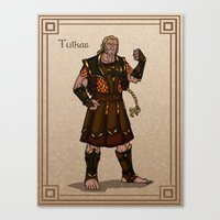 valar morghulis Canvas Prints featuring Tulkas by wolfanita