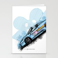 deadmau5 Stationery Cards featuring Deadmau5's Purrari 458 Spider by an.artwrok