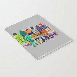 Superhero Butts - Power Couple on Grey Notebook